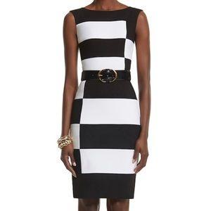 Whitehouse Black Market Colorblock Sheath Dress